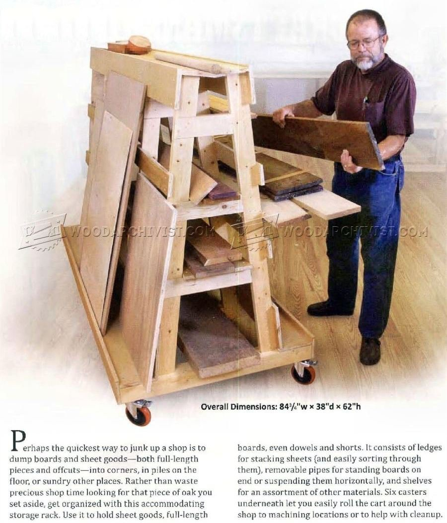 Lumber and Sheet Storage Rack Plans