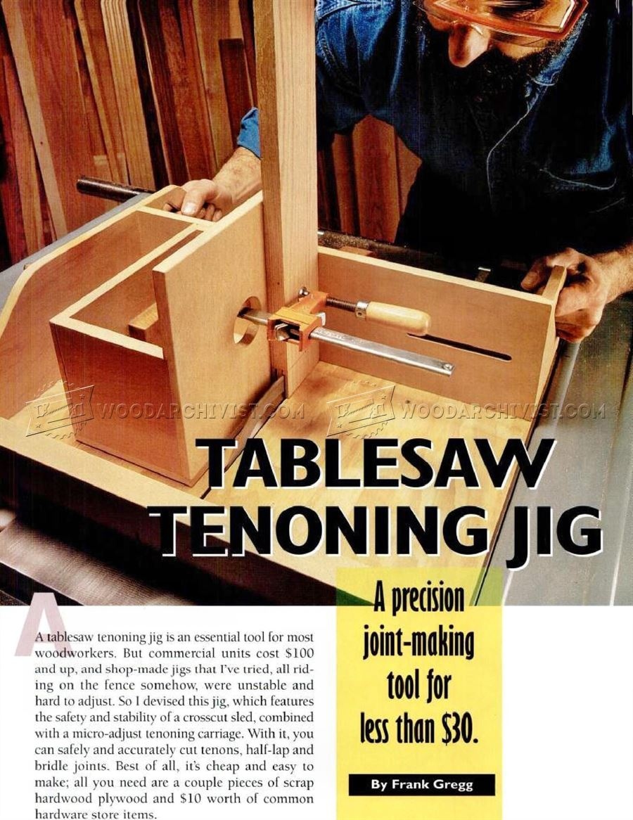 DIY Table Saw Tenon Jig