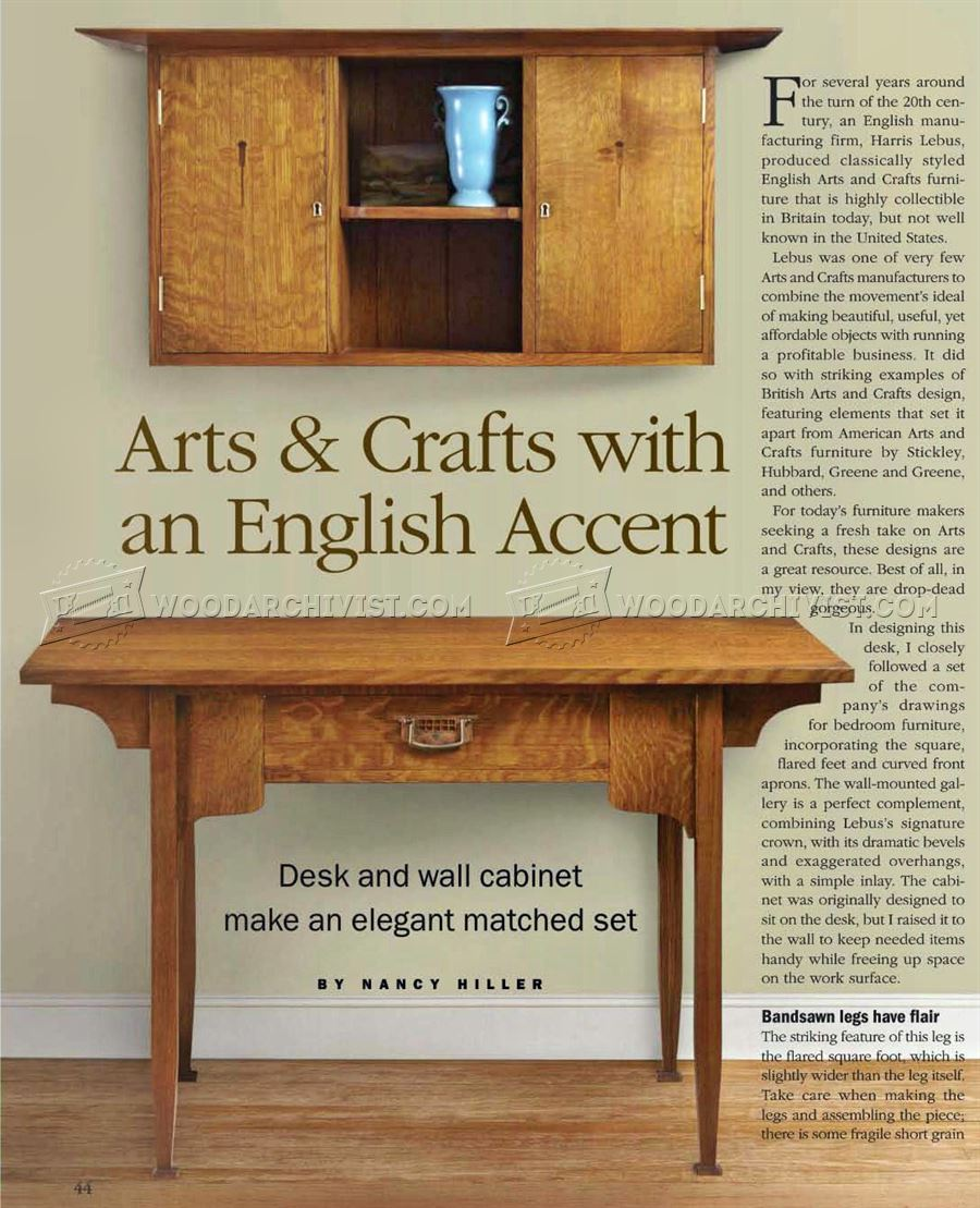 Arts And Crafts Desk Plans