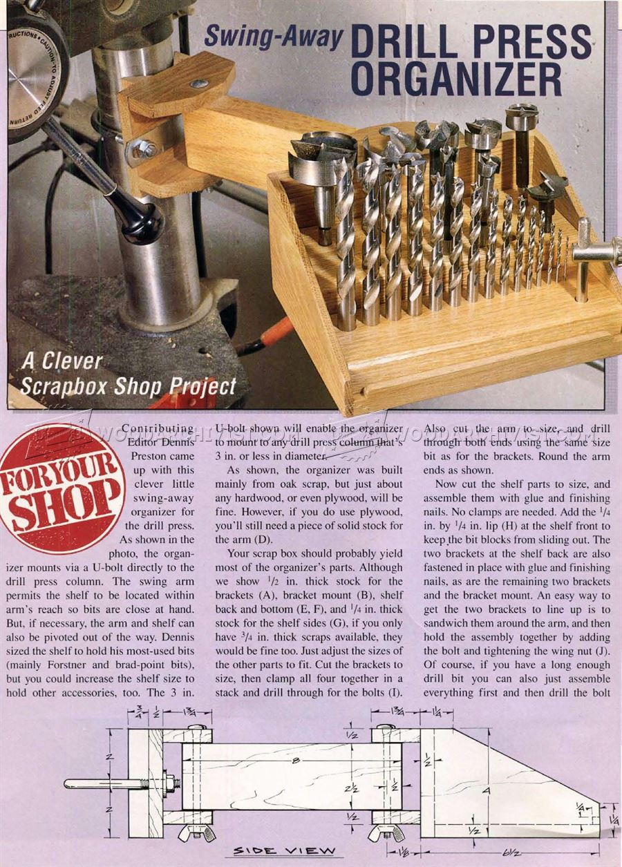 Drill Press Organizer