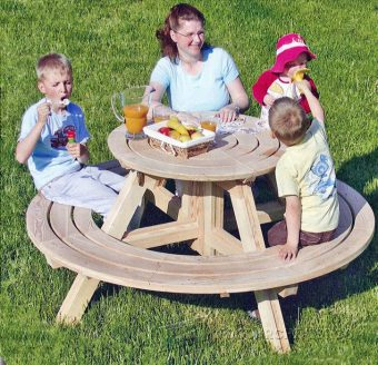 3630-Round Picnic Table Plans