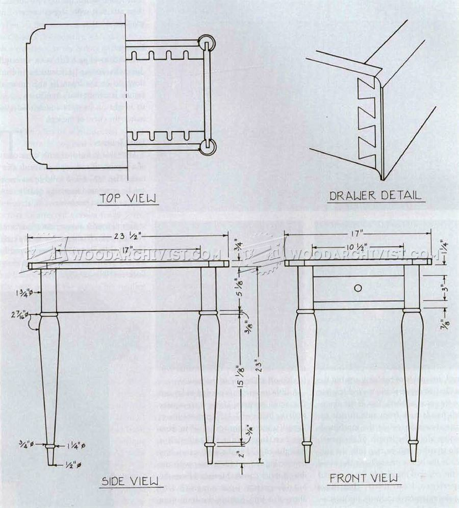Sheraton Side Table Plans