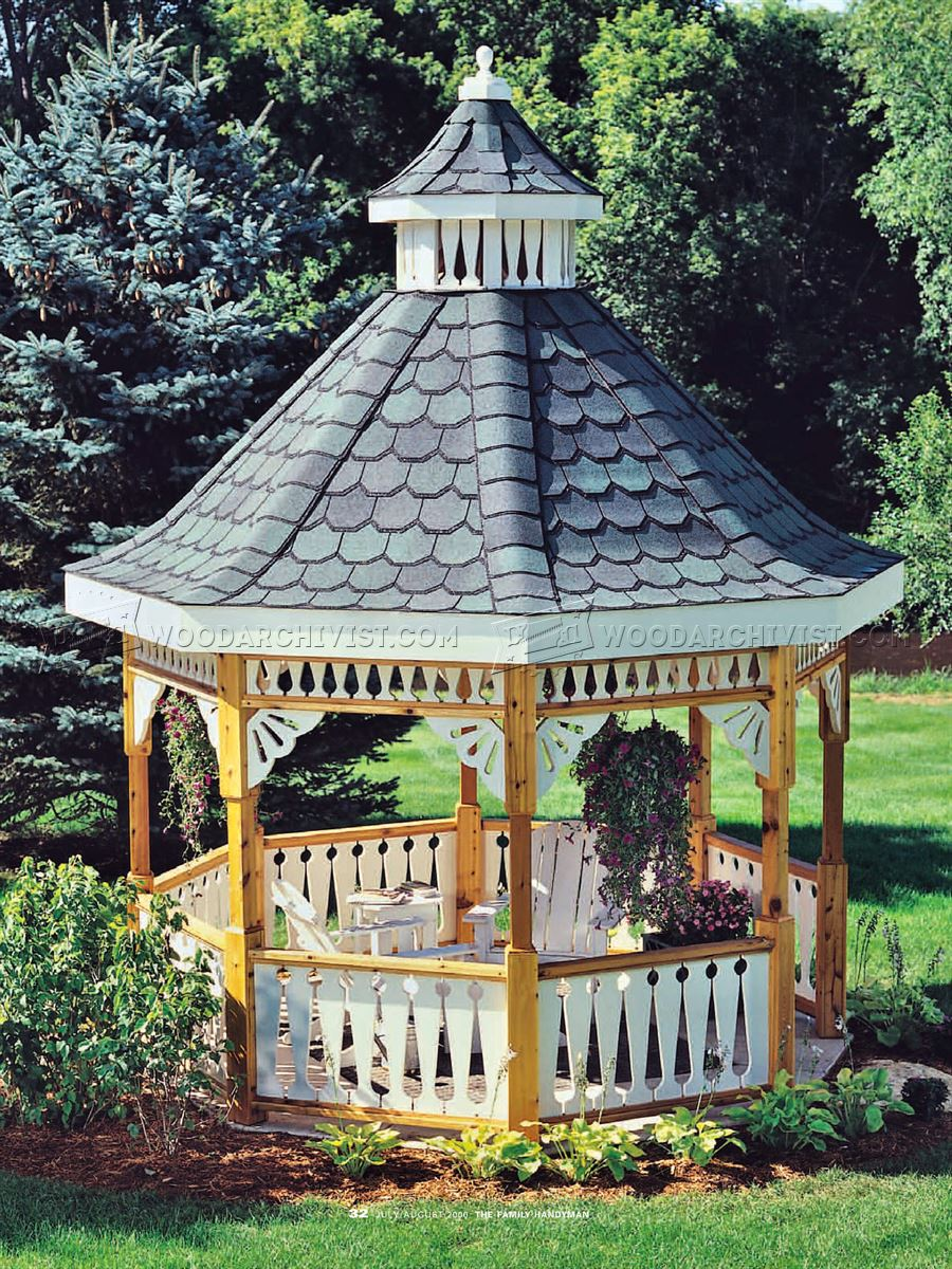 Tough shed plans images how to build a farmhouse table for Build your own gazebo free plans
