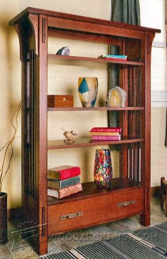 3638-Arts and Crafts Bookcase Plans