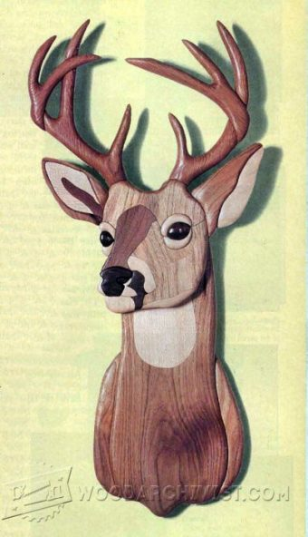 3642-Eight-Point Buck - Intarsia Patterns
