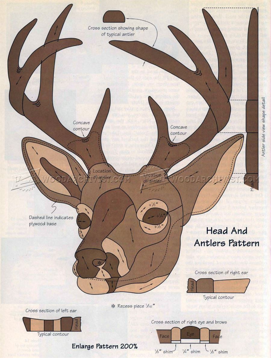 Eight-Point Buck - Intarsia Patterns