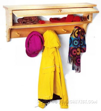 3644-Coat and Mitten Rack Plans