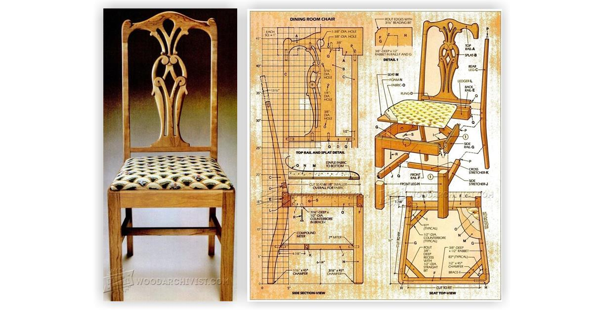 Dining room chair plans woodarchivist Dining room plan
