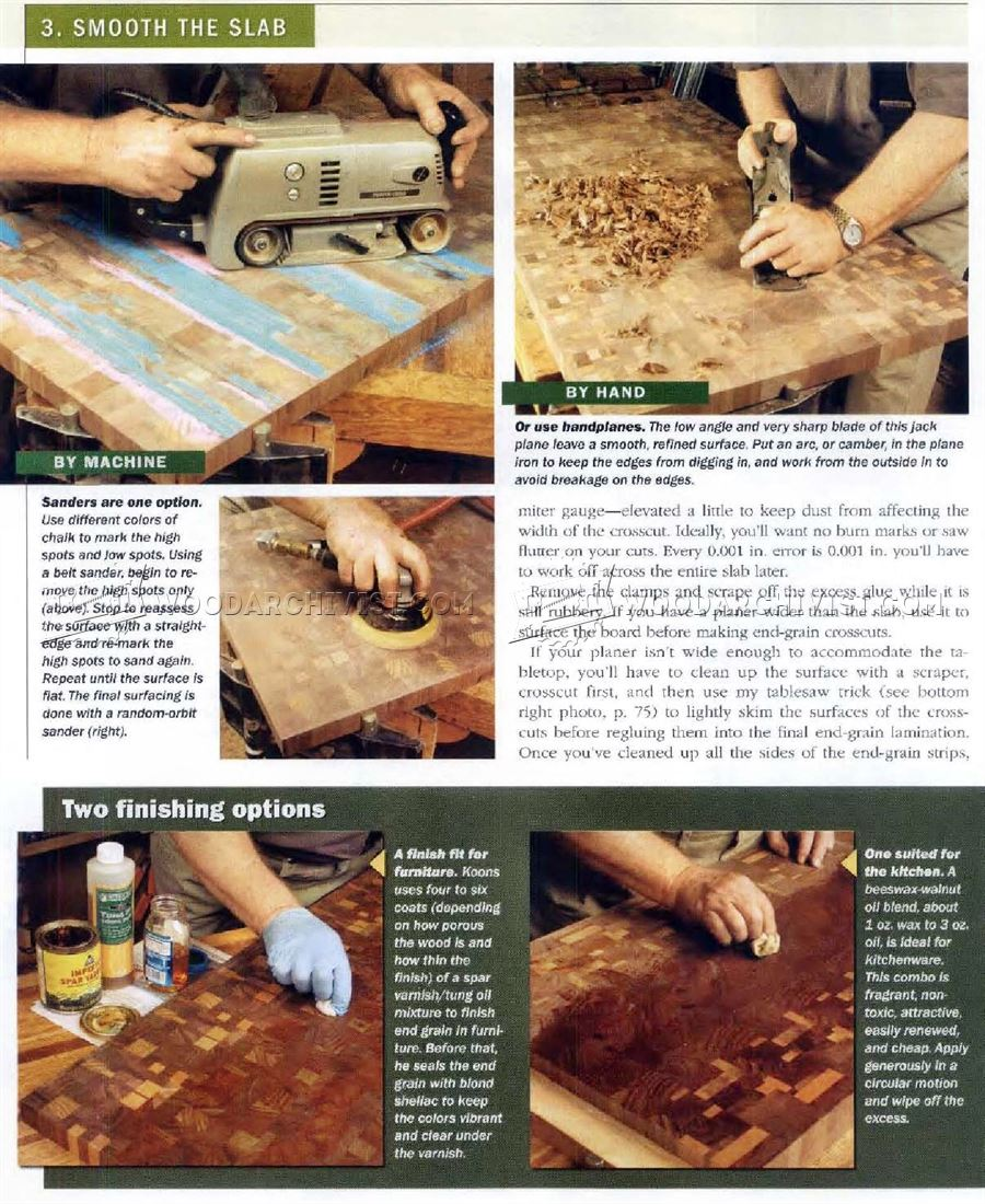 Making End Grain Table Top