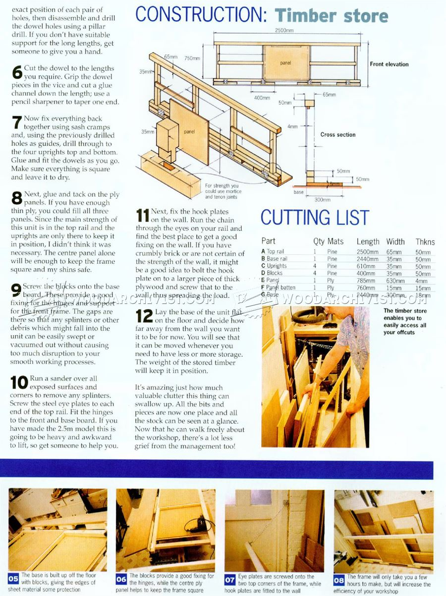 Sheet Storage Rack Plans