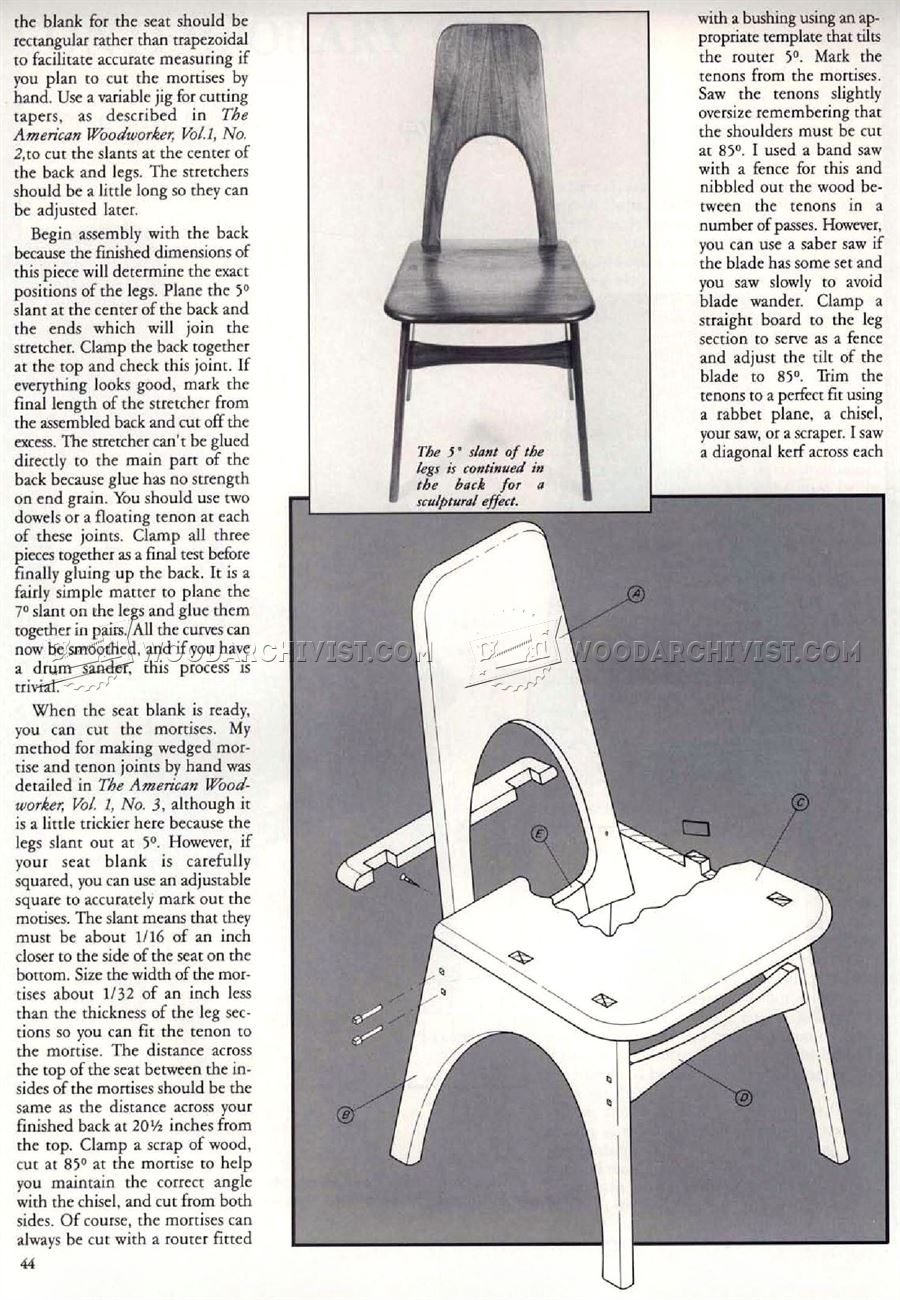 Contemporary Chair Plans