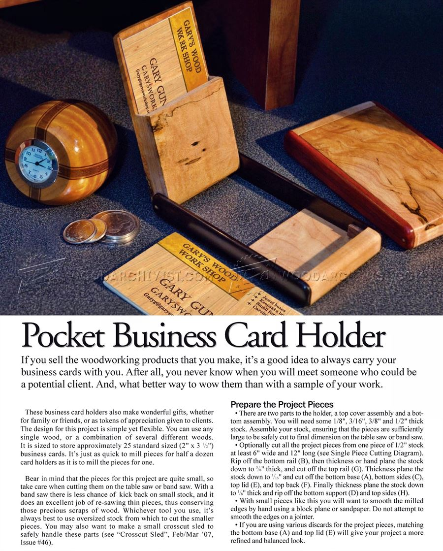 Diy business card holder o woodarchivist for Wood business card holder plans