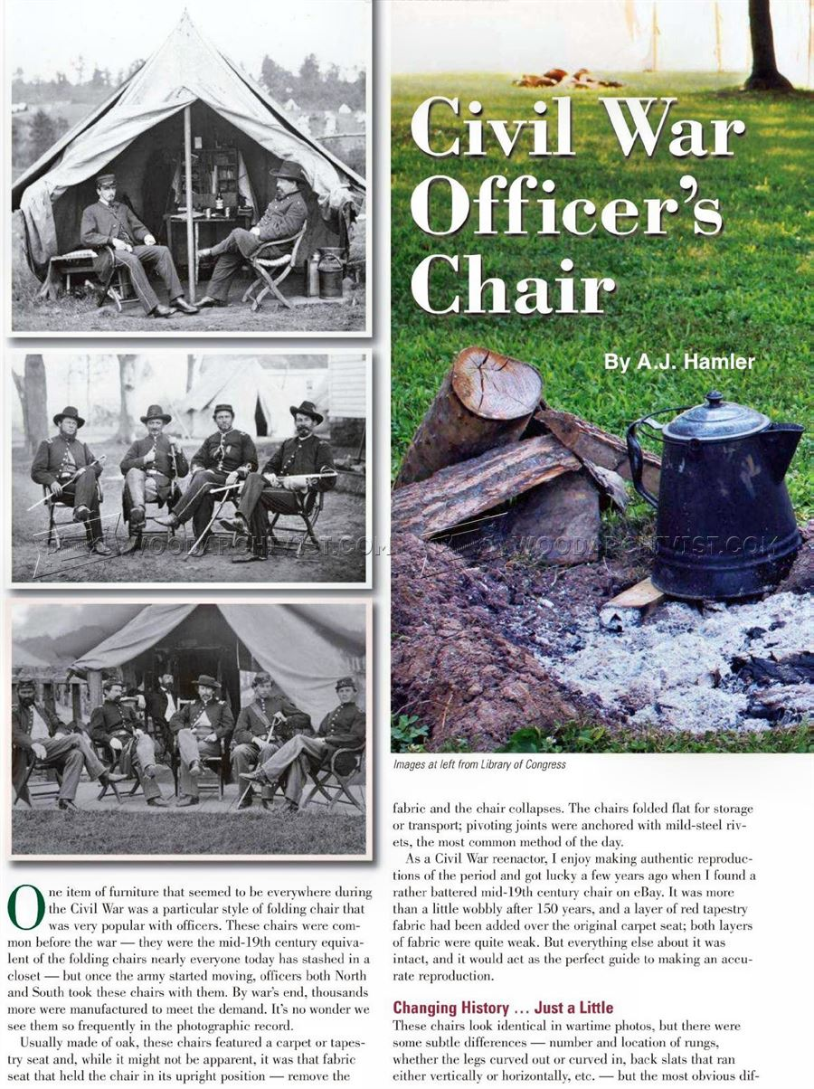 Civil War Chair Plans