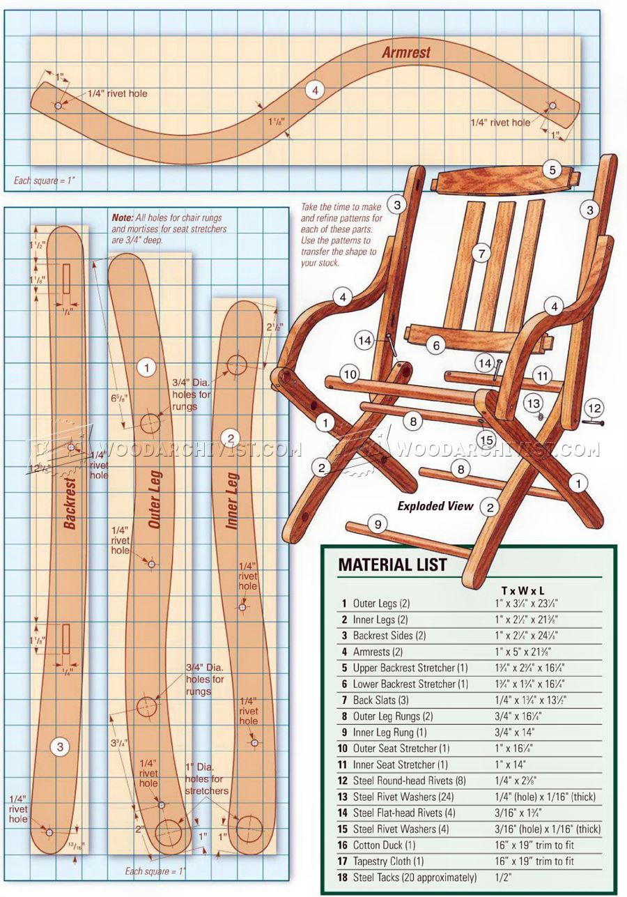 Civil War Chair Plans Woodarchivist