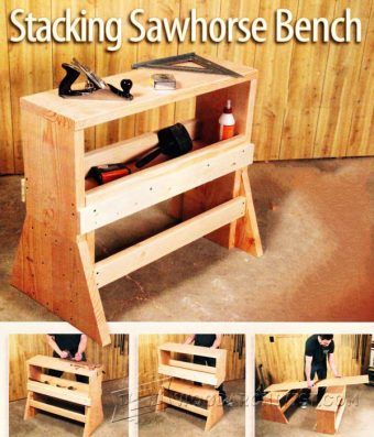3663-Stacking Sawhorse Bench