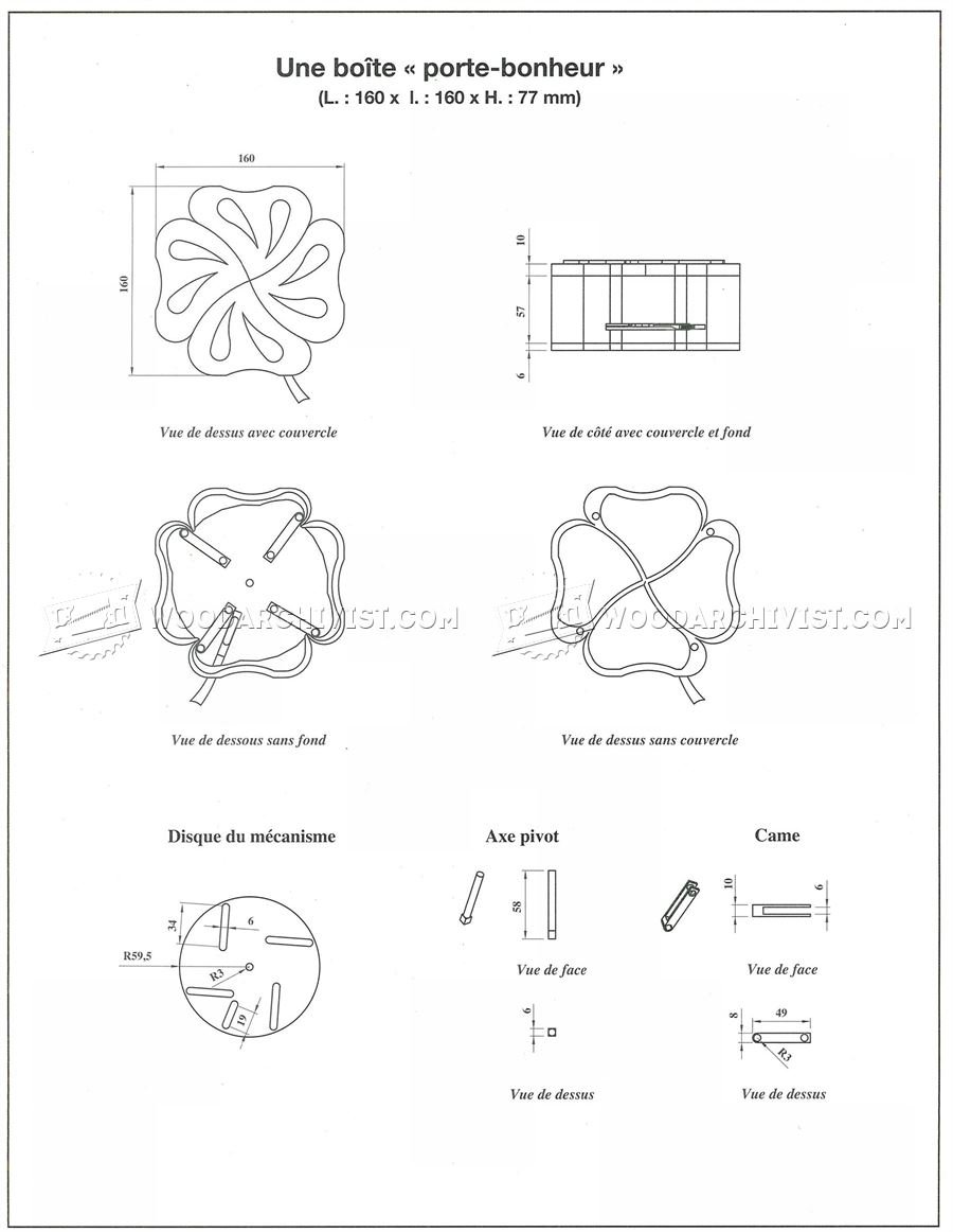 Quatrefoil Box Plans