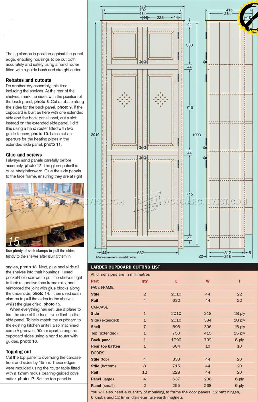 Kitchen Larder Cupboard Plans