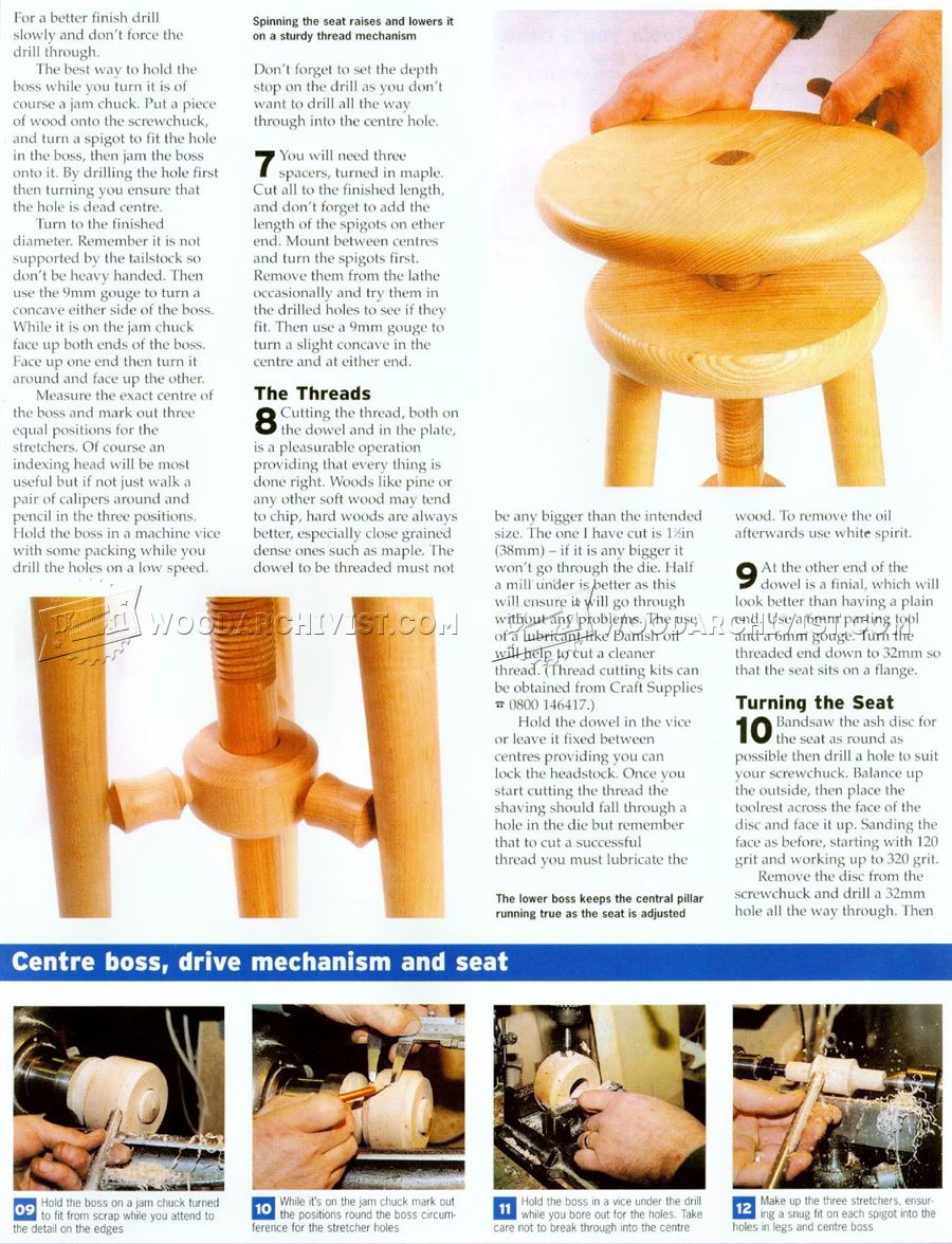 Adjustable Stool Plans