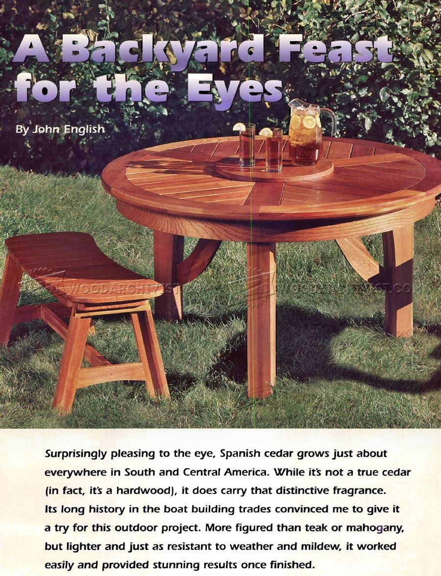 Round Picnic Table Plans Woodarchivist