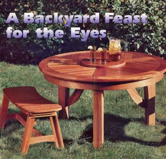 3683-Round Picnic Table Plans