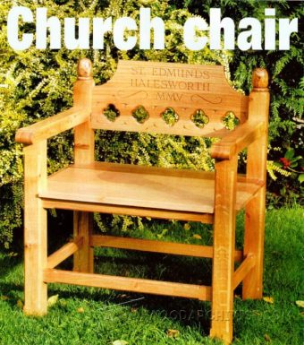 3687-Church Chair Plans