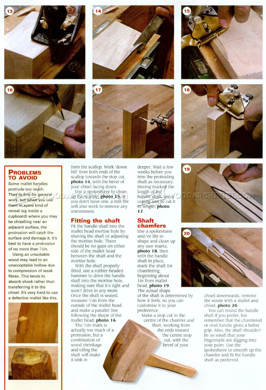 Making Joiners Mallet Woodarchivist