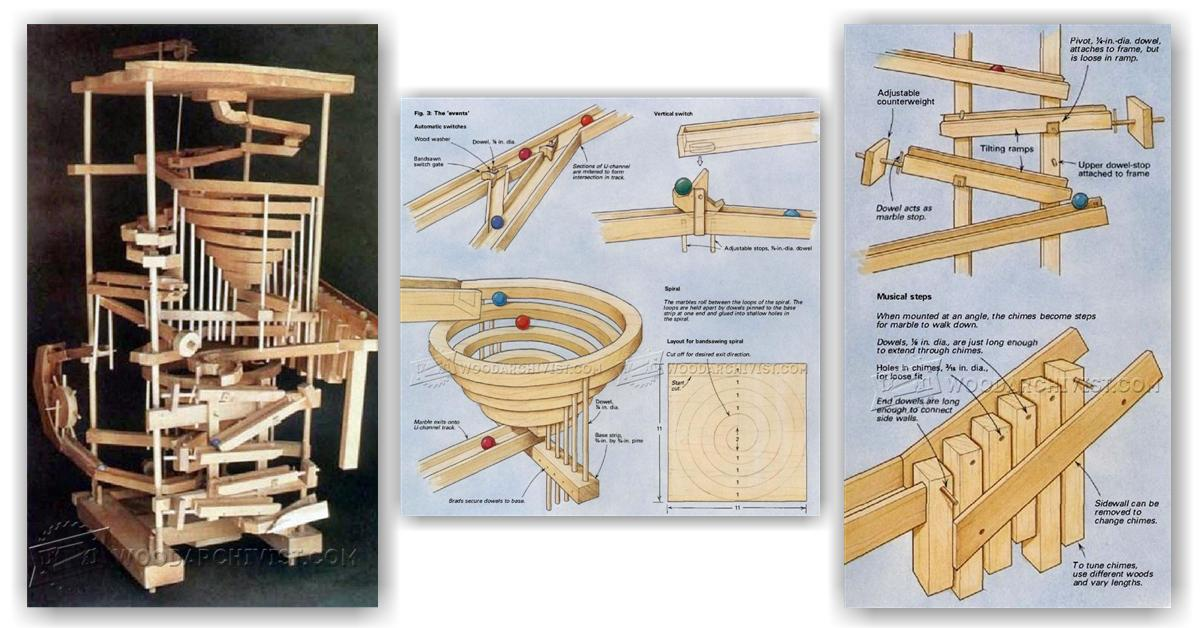 DIY Wooden Marble Run • WoodArchivist