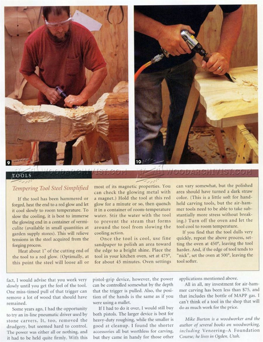 Carving With An Air Chisel
