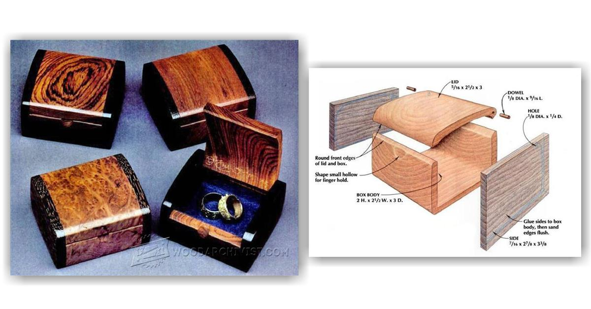 Bandsaw Wedding Ring Box Plans Woodarchivist