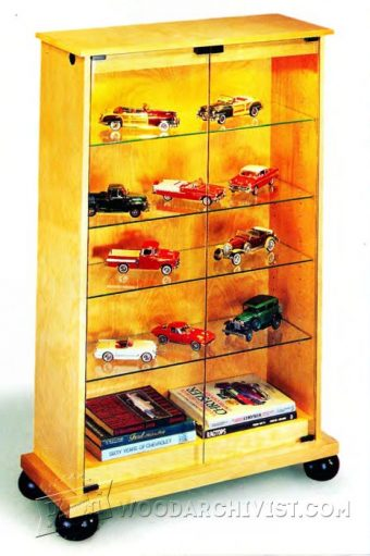 3703-Lighted Display Cabinet Plans