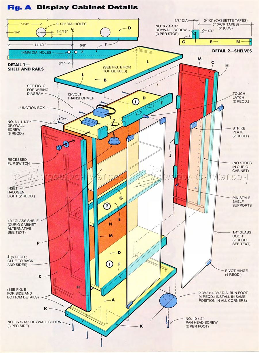 Lighted Display Cabinet Plans