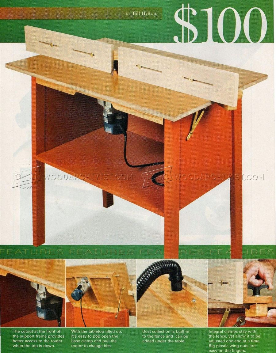 Simple Router Table Plans