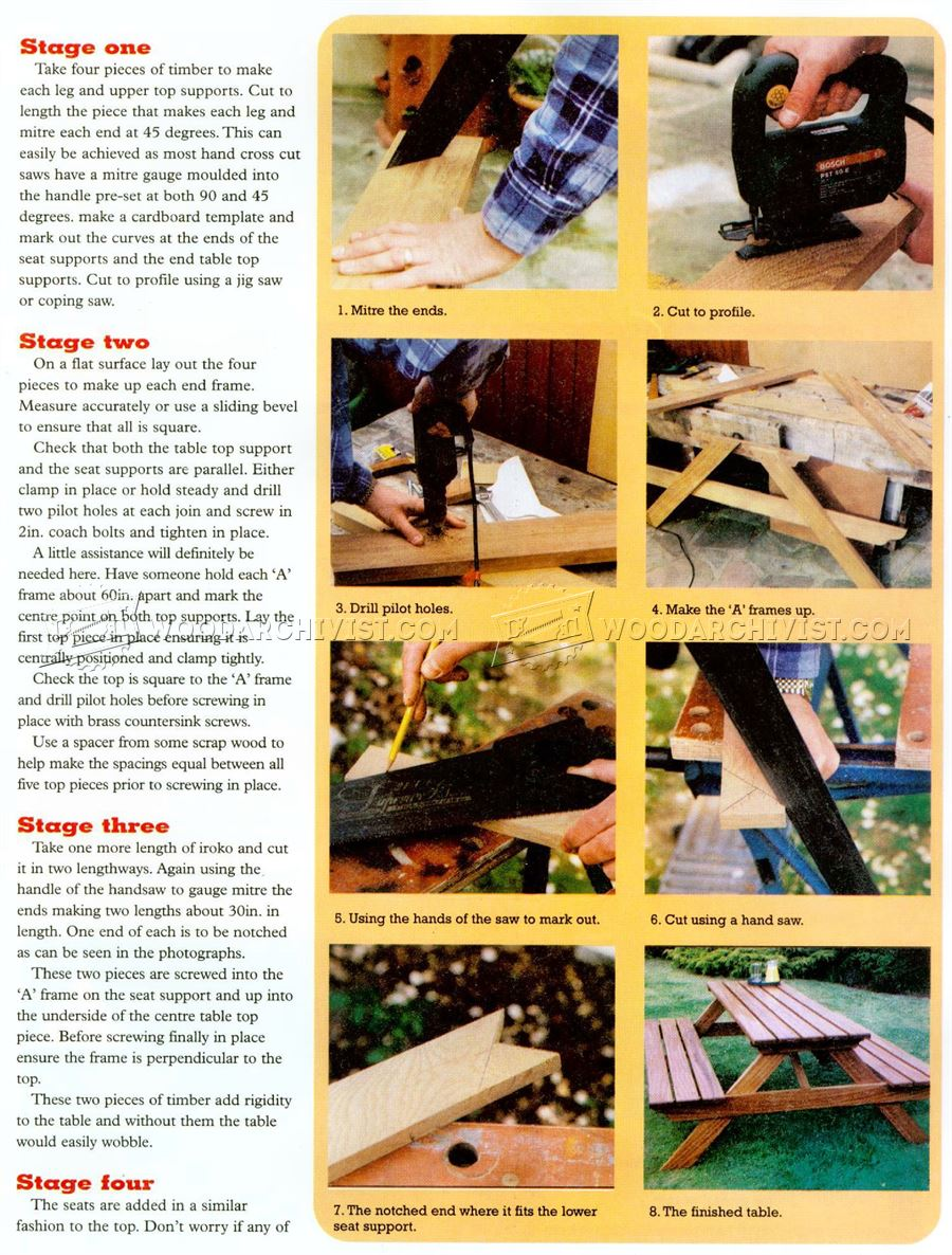 Garden Picnic Table Plans