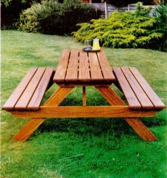 3709-Garden Picnic Table Plans