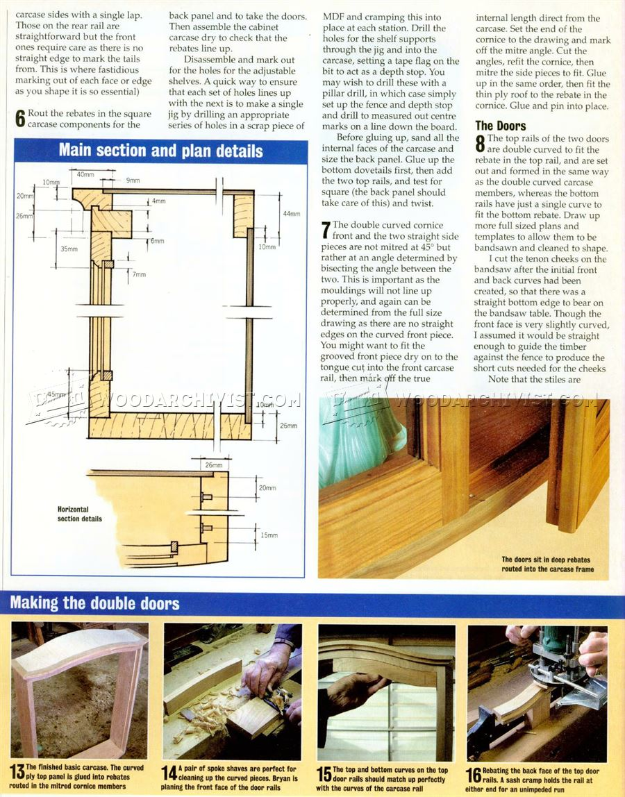 Bow Front Cabinet Plans