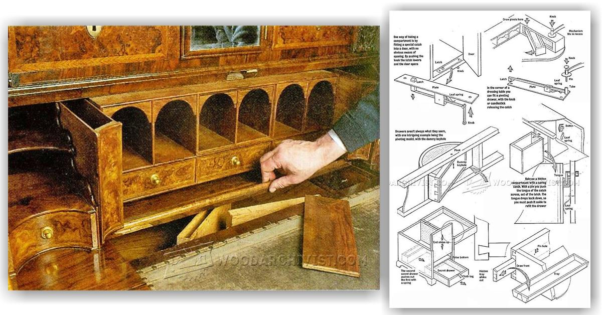 Secret compartment furniture woodarchivist for Furniture w hidden compartments