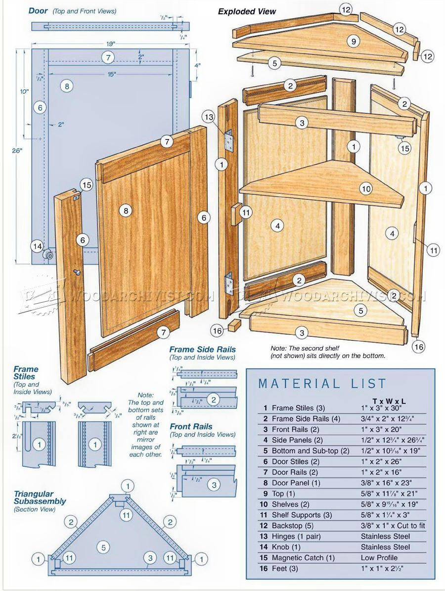 Corner cabinet plans woodarchivist Cabinets plans