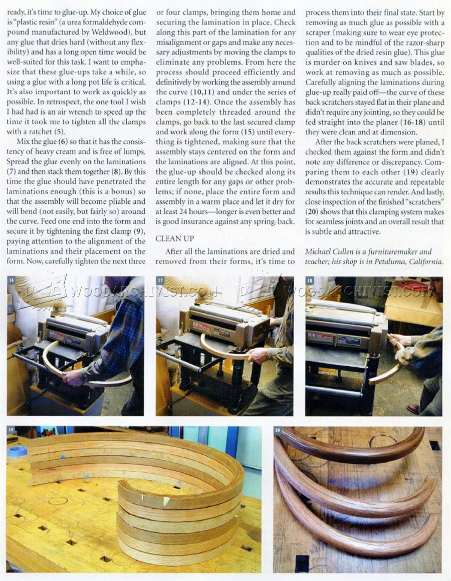 Making Bent Lamination Curves