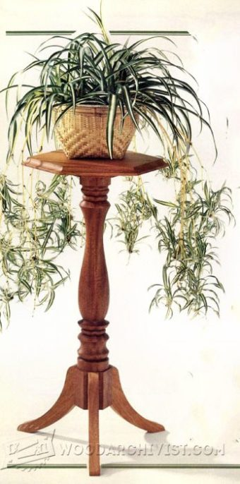 3750-Wood Plant Stand Plans