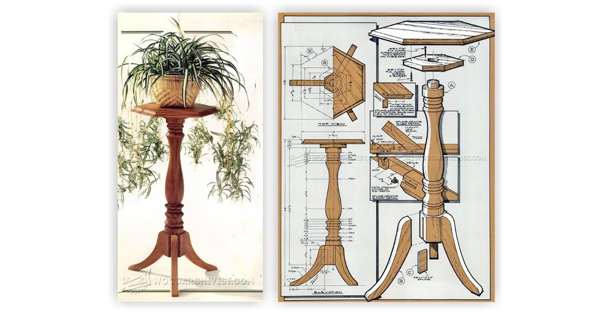 Plant Stand Woodworking Plans - woodworker s journal plant ...