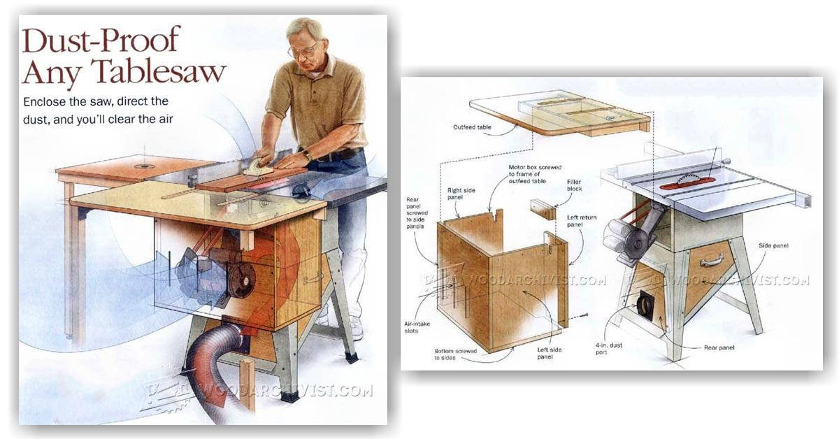 Table Saw Dust Collection Woodarchivist