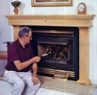 3735-Making Fireplace Mantel