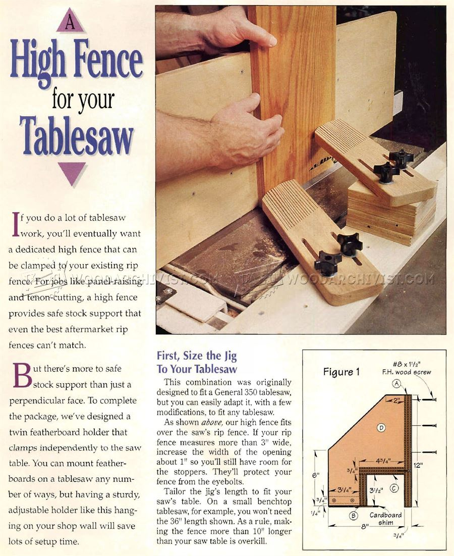 Raised Panel Table Saw Jig