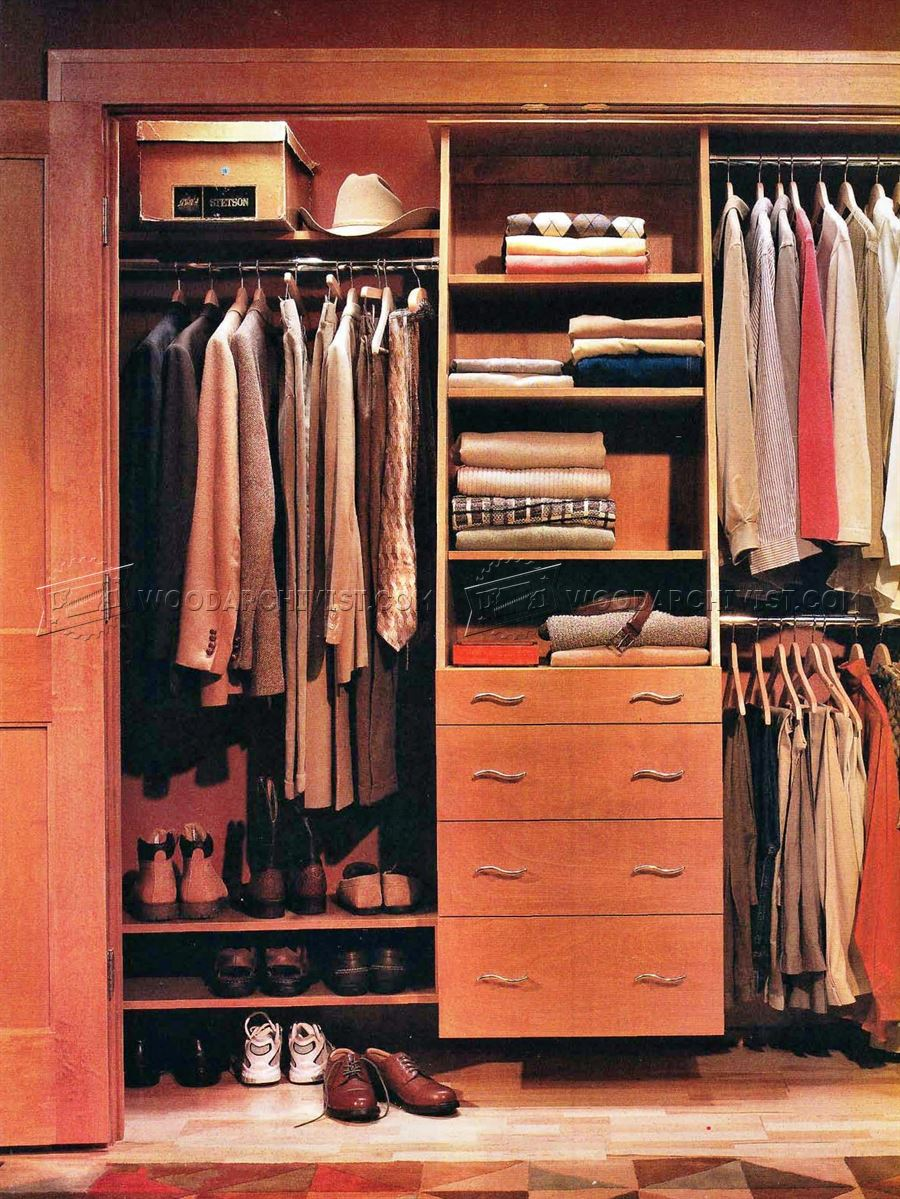 Charming Built In Closet Plans