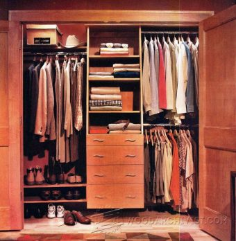 3739-Built In Closet Plans