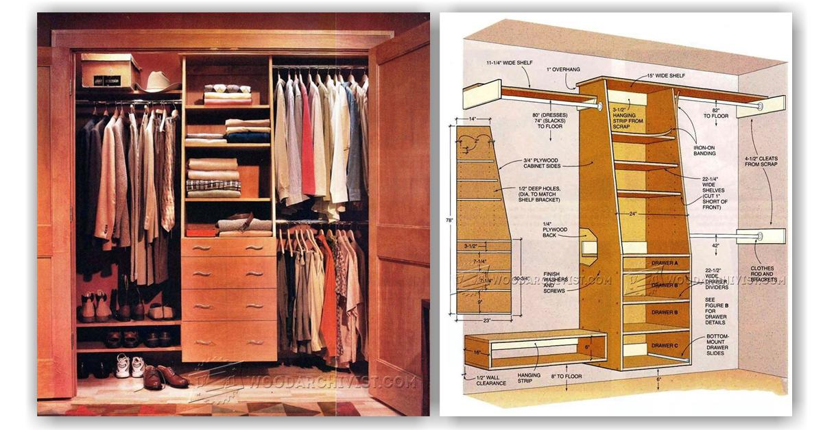 Built In Closet Plans Woodarchivist