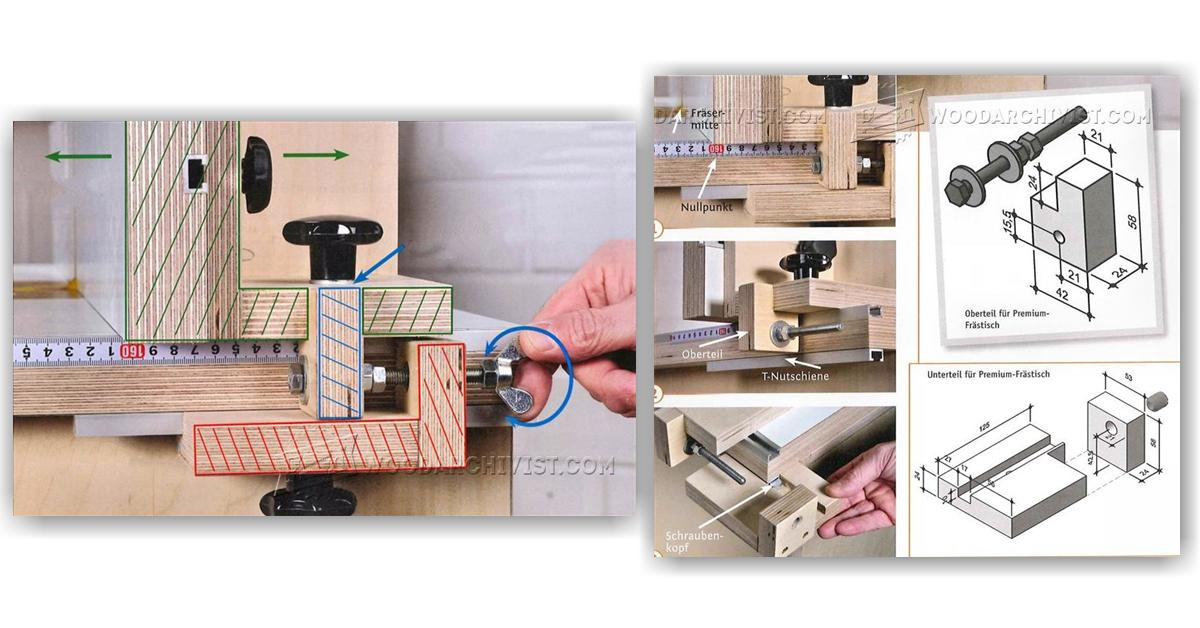 Router Fence Micro Adjuster Woodarchivist