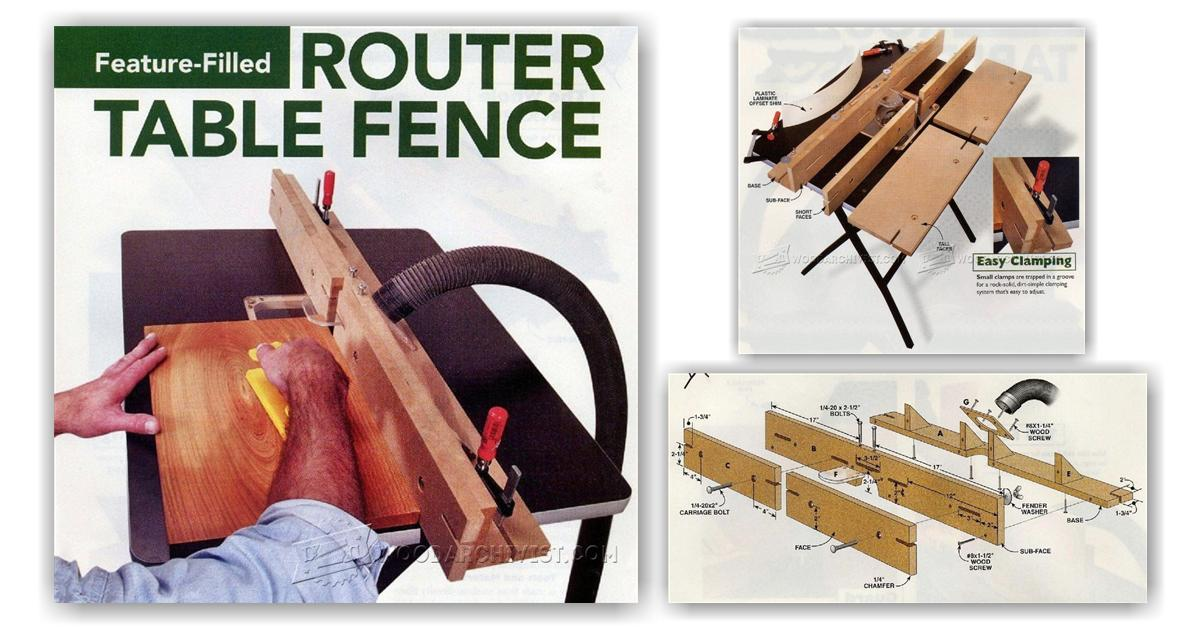 DIY Router Table Fence • WoodArchivist