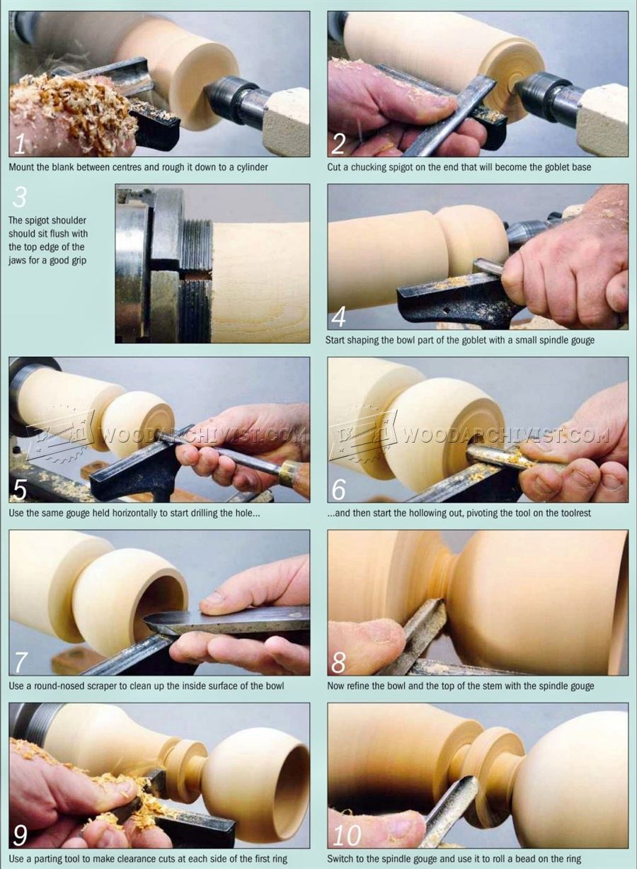 Captive Ring Goblet – Woodturning Projects
