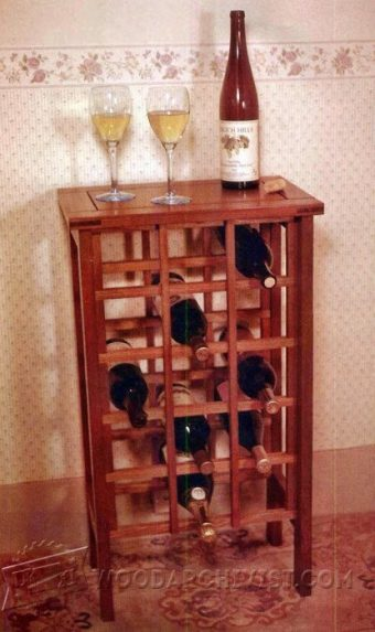 3755-Wine Rack Table Plans